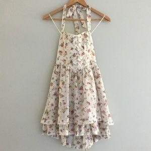Guess Cream Floral Mini Dress